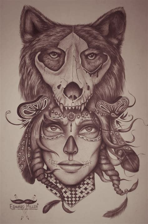tattoo girl animal head 265 best animal headdress tattoo images on pinterest