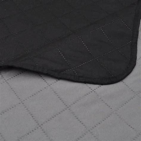 steppdecke kaufen zweiseitige steppdecke bett 252 berwurf tagesdecke schwarz