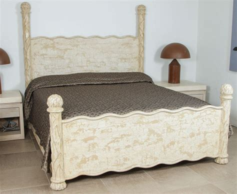 Carved Bed Frames Carved Wood Bed Frame With Artichoke Finials For Sale At 1stdibs
