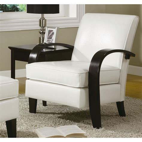 Leather Accent Chair Modern Club Wood Arm Living Room Modern Side Chairs For Living Room