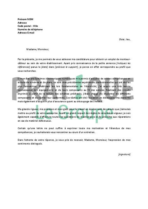 Exemple De Lettre De Motivation Opticien Lunetier modele lettre de motivation opticien document