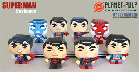 Papercraft Costume - 8 superman evolution papercraft costumes mightymega