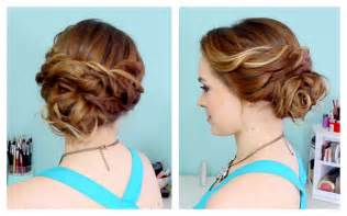 Quick side updo for prom or weddings d youtube
