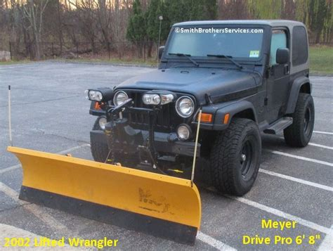 jeep wrangler snow plow 145 best meyer snow plow installs images on pinterest