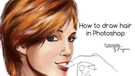 tutorial vector hair photoshop how to draw hair in photoshop tutorial by kajenna youtube