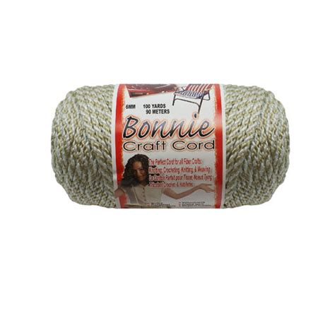 Bonnie Craft Cord 6mm - bonnie macrame braided craft cord oatmeal 6mm 100 yards