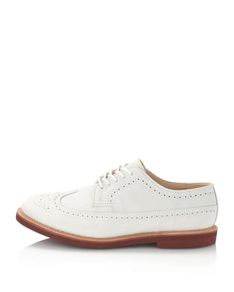 clssic mens fashion white leather shoes mens wingtip