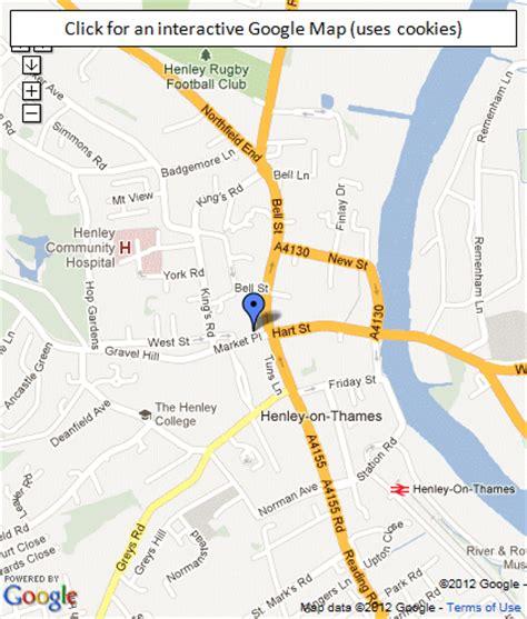 henley on thames river map google map of henley on thames