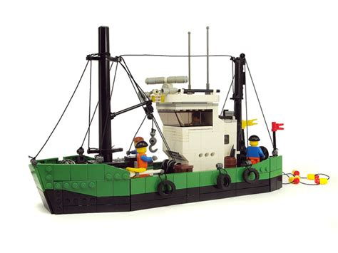 fishing boat lego moc fishing boat quot neptune quot lego town eurobricks forums