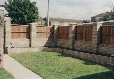 brick fences here s a brick fence with wooden pa