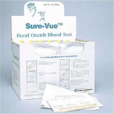 Guaiac All Stools by Fisher Healthcare Sure Vue Fecal Occult Blood Slide Test