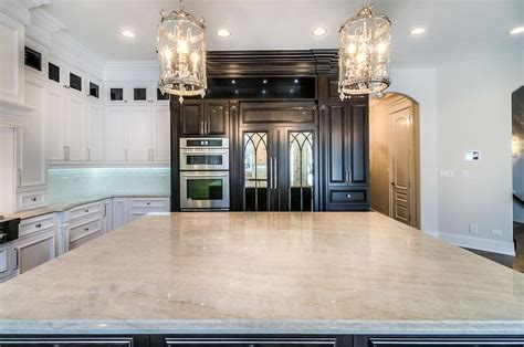 Marble Subway Tile Kitchen Backsplash taj mahal quartzite kitchen countertops transitional
