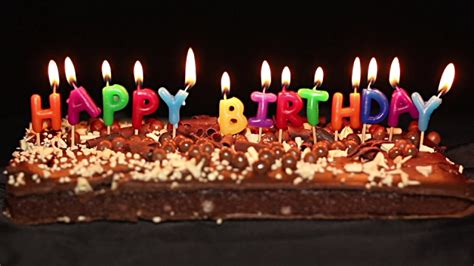 candele torta happy birthday cake and candles stock footage
