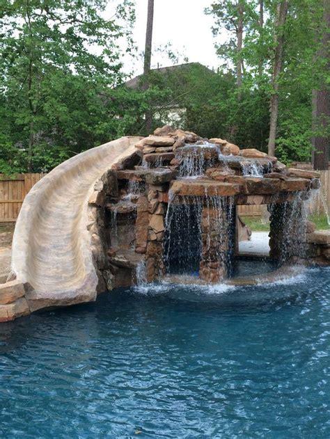 backyard pool with slide home alone pool slide backyard design ideas