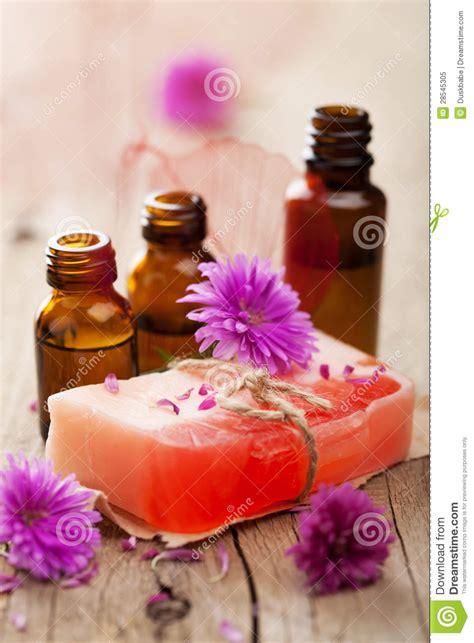 Handmade Herbal Soaps - handmade herbal soap royalty free stock photo image