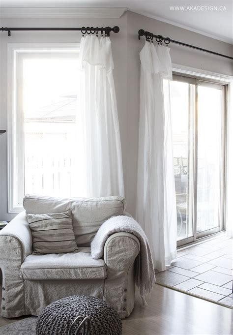 inexpensive curtains ikea curtain hack diy home decor
