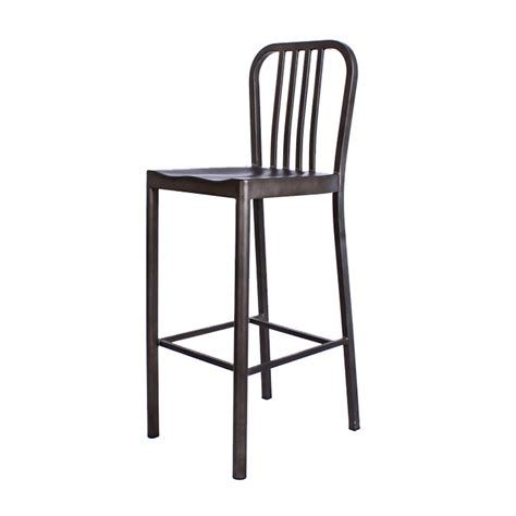 Navy Bar Stool Replica by