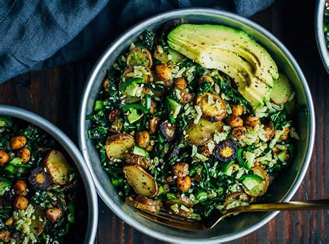 Kale Detox Salad With Pesto by Clean Vegetarian Recipes Purewow