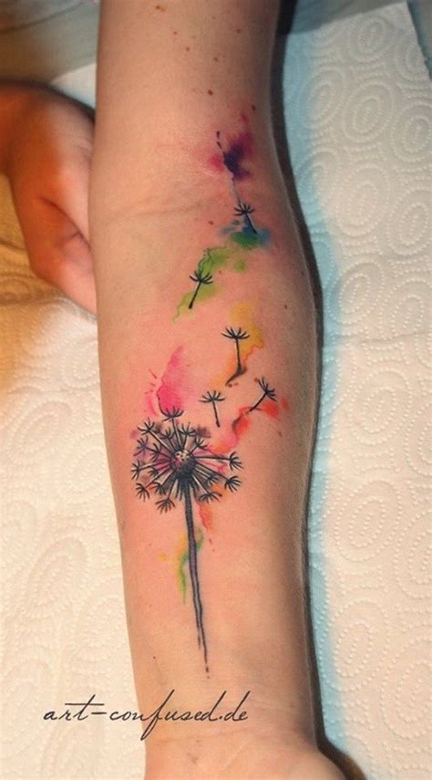 watercolor dragonfly tattoo designs best 20 watercolor dandelion ideas on