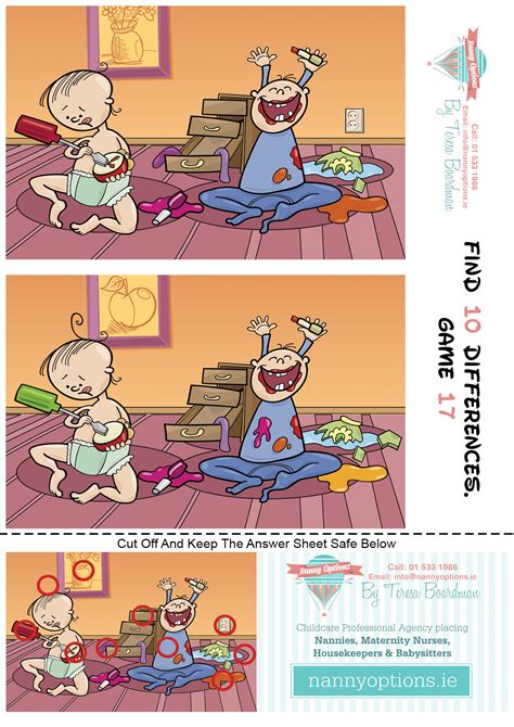 Finding Similarities Between Options And by For Find 10 Differences 17 Nanny