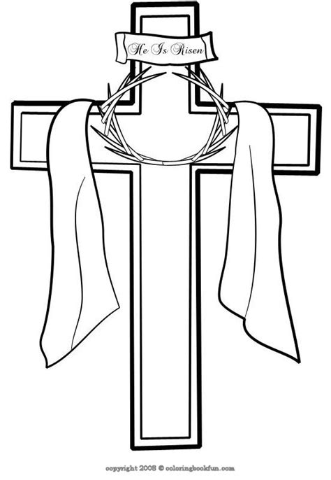 cross coloring page color book
