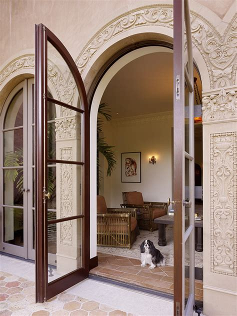 Arched Patio Doors Patio Doors Mediterranean Exterior San Francisco By Alderson Construction