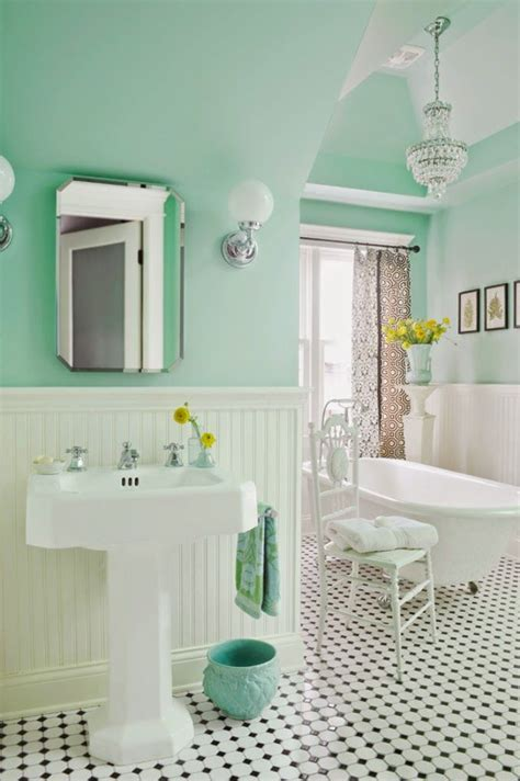 How to create the perfect bathroom turquoise black and white tiles