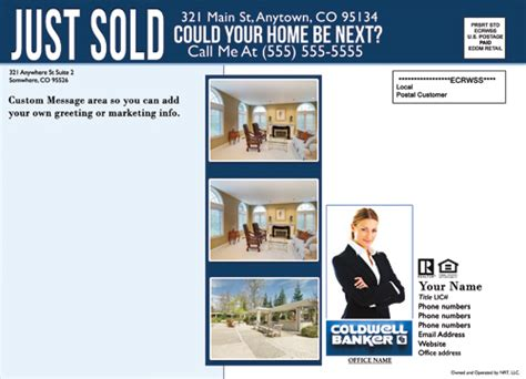 Real Estate Just Sold Flyer Templates coldwell banker eddm just sold template 2 cheap price