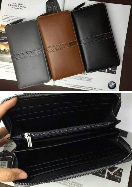 Bag Mont Blanc 2 Zipper leather purse wallet products diytrade china