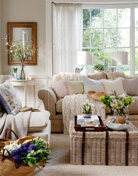 Country Livingrooms by Neutral Traditional Living Room With Wicker Trunk