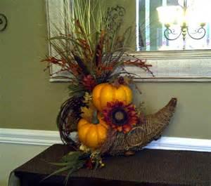 Pumpkin Topiaries - rustic fall cornucopia floral arrangement by perpetualposy on etsy