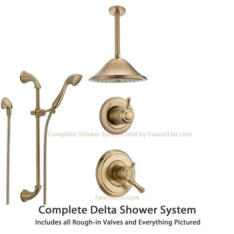 Delta Dual Shower System by 17 Best Images About Shower Systems On Chrome