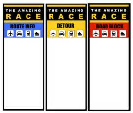 Clue Card Template by Amazing Race Templates