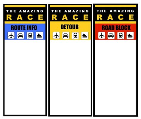 race card template amazing race logo printable images