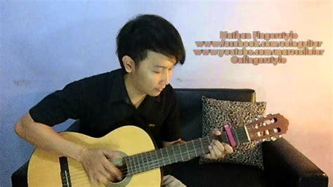 cara bermain gitar ala nathan mendem kangen nathan fingerstyle solo gitar cover