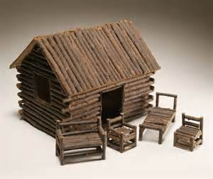 how to make a small log cabin