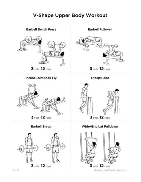 free home workout plans v shape upper body workout plan for chest shoulders