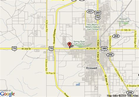 roswell texas map map of ramada limited roswell roswell