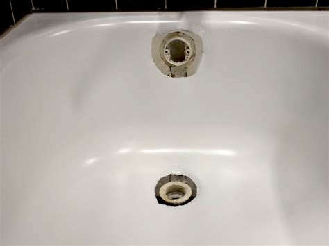 how to fix the bathtub drain bathtub drain overflow rust hole repair