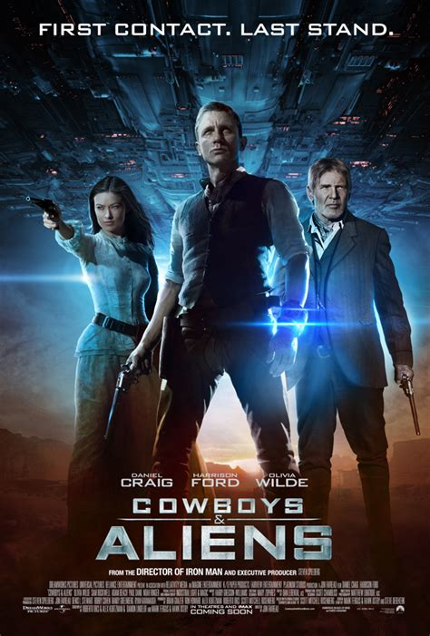 film cowboy and alien cowboys aliens poster collider