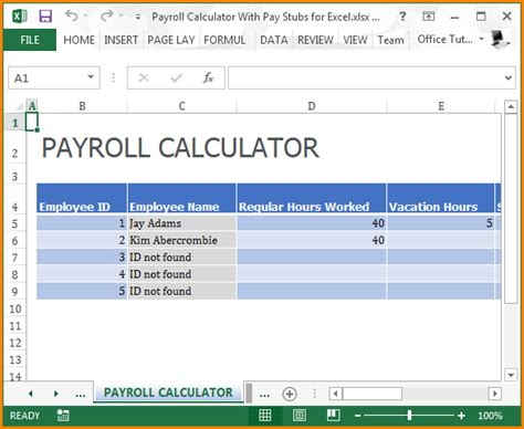 microsoft excel payroll template 6 microsoft excel payroll templates simple salary slip