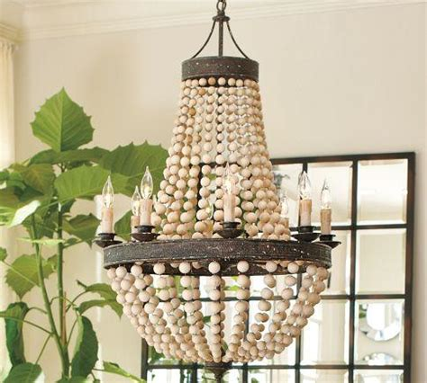 paint pottery and bead it wood bead chandelier pottery barn