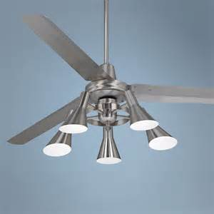 ceiling light 5 light ceiling fan six blades quince chrome