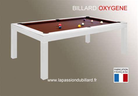 billard table pas cher billard lafuge billard oxygene chassis en acier laque blanc transformable en table tapis chocolat