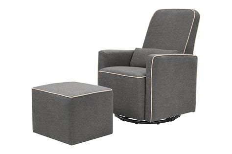 davinci olive upholstered swivel glider with bonus ottoman grey best in glider chairs helpful customer reviews