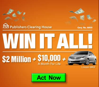 Publishers Clearing House Sweepstakes Winners - pch win it all 2 million plus 10 000 a month for life plus car