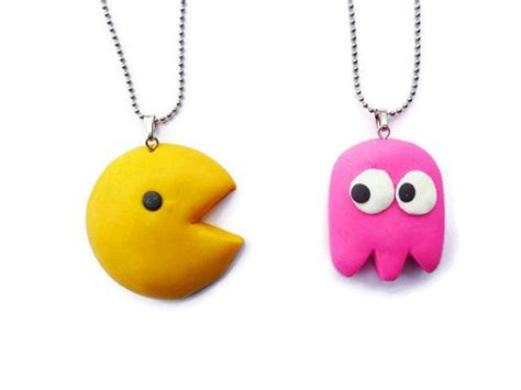 imagenes kawaii bff pacman best friends necklace bff necklace set