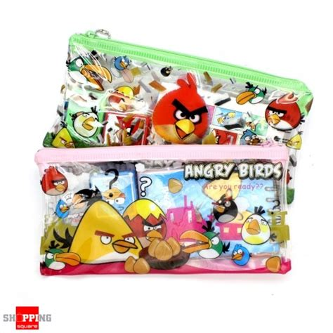 Angry Birds 5in1 Stationery Set 5 in 1 pencil bag angry bird stationary set assorted colour shopping shopping