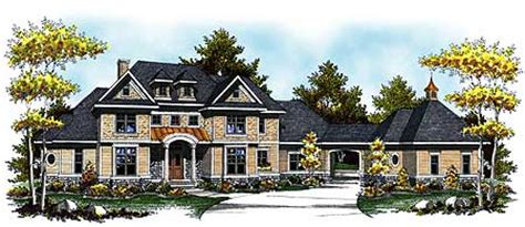 grand  story home plan  arched portico ah