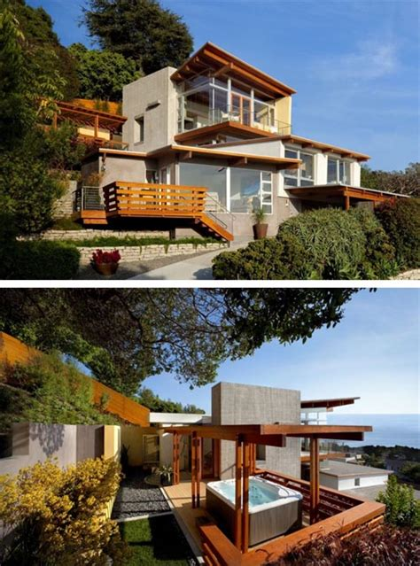 modern hillside house plans modern house